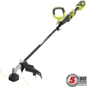 Cordless String Trimmer Walk Behind Battery Straight Shaft Grass Brush Cutter