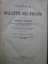 Frerichs - Clinica delle malattie del fegato - libri antichi medicina