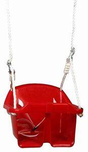 Babyschaukel Kinderschaukel Schaukelsitz Kunststoff Babysitz Kleinkinder rot