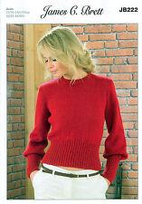 Ladies Sweater JB222 Knitting Pattern James C Brett Aztec Aran