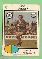 1975  PARRAMATTA EELS SCANLENS RUGBY LEAGUE CARD  #121.  BOB O'REILLY