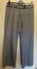 Marks & Spencer Autograph UK14M EU42M US10M black-mix wool-blend lined trousers