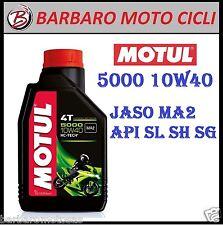 1 LITRO ACEITE MOTOR MOTUL 5000 4 TIEMPOS 10W40 Jaso MA2 API SL / SH / SG