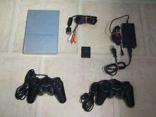 Playstation 2 Slim silber komplett mit 2 Controller