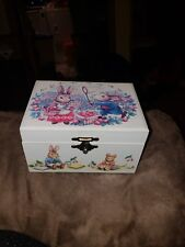 Older Musical Jewerly Box With Bunnies.works