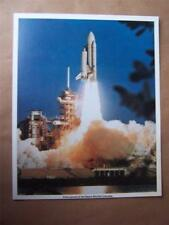 Space NASA  Fact Card  Space Shuttle    ( 8 x 10 inches paper size )