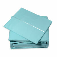 Home Decor Lexington 2800 Aqua Microfiber 6 Piece Sheet Bed Cover Throw Set King