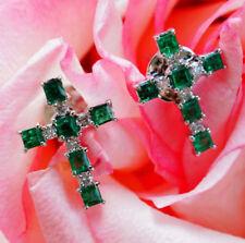 Unisex Echtschmuck im Ohrstecker-Stil mit Smaragd