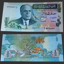 Tunesien Tunisia 1/2 Dinar 1973 Unc Pick 69 #