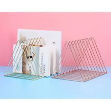 Triangular Book Holder Unique Desktop Modern Metal Wire Bookshelf for School