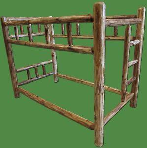 Torched Cedar Log Bunk Bed - Full - $899 - Free Shipping, Premium Finish