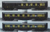 3x HORNBY PULLMAN COACHES from TORNADO PULLMAN TRAIN SET R1169 CHOCOLATE & CREAM