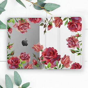 Red Roses Bouquet Flowers Girly Case For iPad 10.2 Pro 12.9 10.5 9.7 Air 3 Mini
