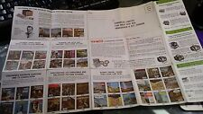 1957 Vintage View Master Advertisement Sheet of equipment and Reel Packages