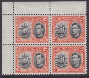 Grenada GVI 1938 VARIETY ERROR 2d black & orange LINE ON SAIL p12½ sg156aa