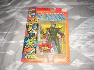 Uncanny X-men Wolverine Action Figure (Marvel, 1993) MIB RARE green suit version