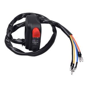 "22mm 7/8"" Handlebar LED Headlight Lamp Switch On Off Control Electrical Start"