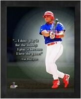 "Ivan Rodriguez Texas Rangers MLB Pro Quotes Photo (Size: 12"" x 15"") Framed"