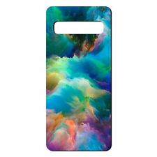 For Samsung Galaxy S10 Silicone Case Abstract Rainbow Art - S4914
