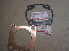 KAWASAKI NOS HEAD & BASE GASKET KX125 KE125 KS125 KD125  11004-064 11009-037