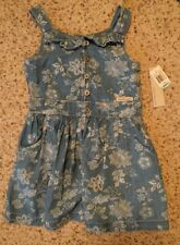 Calvin Klein girls denim dress, size 5