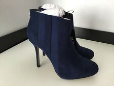 Principles By Ben De Lisi BNWTS Blue Faux Suede Ankle Boots Heels £49 39 Uk 6