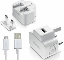 Samsung U90UWE 2AMP Mains Charger & USB Cable Fits Galaxy Tab 3 8.0 WiFi WHITE