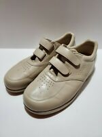 T4 SAS Mens Size 12.5 W Tan Leather Double Strap Hook & Loop Walking Shoes