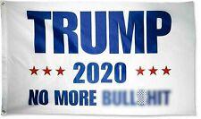 Trump 2020 Flag No More BS 3x5 Feet MAGA Flag Banner BS Blue Flag