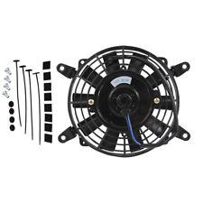 "7"" Universal Slim Electric Radiator Cooling Fan Push Pull 12V 80W & Mounting Kit"