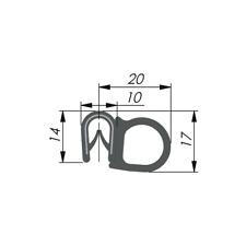 Dichtungsprofil-Dichtprofil-Schwarz KB 1-4 mm EPDM Gummi
