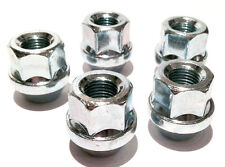 5 x wheel open ended nut nuts bolts. M12 x 1.5, 19mm Hex, Tapered Seat