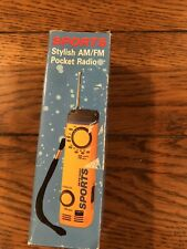 Sports Stylish AM/ FM Pocket Radio Hand Strap Tested Works