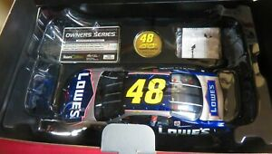 RARE, JIMMIE JOHNSON, 1/24 2002 TEAM CALIBER BLUE CHROME, #48, LOWE'S ROOKIE CAR