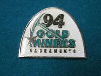 Sacramento Goldminers 1994 vintage pin CFL football rare old NFL XFL USFL surge