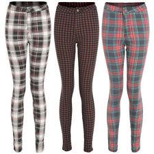 Markenlose Damenhosen aus Baumwolle mit hoher Bundhöhe