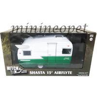 GREENLIGHT 18440 B SHASTA 15' AIRFLYTE CAMPER TRAILER 1/24 GREEN WHITE Chase
