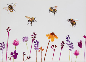 Country Life Busy Bees Painting Canvas Print Wall Art - Various Size Options