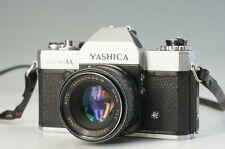 YASHICA ELECTRO AX Film Camera Body YASHINON DS-M 50mm 1:1.7 Lens AS-IS 988f26
