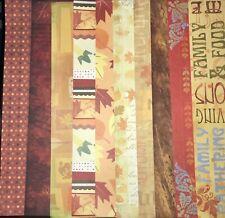 Karen Foster Fall Thanksgiving Halloween Scrapbooking Paper 12x12 Pick 1