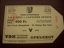 TICKET KAA GENT - LAUSANNE SP 17/9/1991 C3