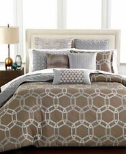 Hotel Collection Rondelle Twin Duvet Cover Mocha Original Retail $215 NEW NWT