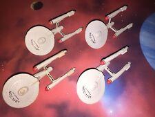 Star Trek Micro Machines Lot USS Enterprise 1701 TOS X4 Space Ship Wars Fleet