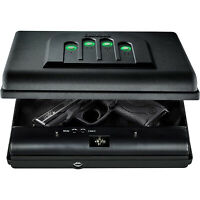 GunVault MicroVault Portable Handgun Case with Illuminated Digital Keypad, Black