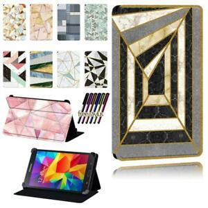 Leather Flip Stand Case cover Fit Samsung Galaxy Tab 2 / 3 / 4 Tablet + Stylus