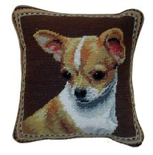 "Chihuahua Dog Needlepoint Pillow 10""x10"" NWT"