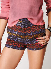 Free People Womens Shorts Sz 2 Tribal Print High Waisted Pockets Multicolor Flat