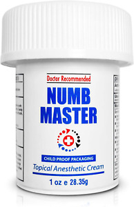 Numb Master 5% Topical Numbing Cream, Maximum Strength Long-Lasting Pa