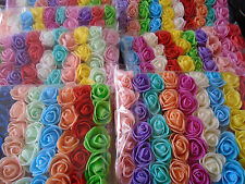 50 Pcs Mix color espuma rosas artificial Flor Ramo de Novia de Boda Fiesta Decoración