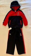 MLB Los Angeles Angels (2T)Toddler Full Zip Hooded Sweatshirt and Pants